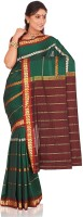 Indusdiva Checkered Silk, Cotton Sari