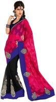 Chirag Sarees Self Design Embroidered Embellished Cotton Sari