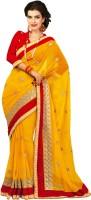 Chirag Sarees Self Design Embroidered Embellished Chiffon Sari - SARDWMQFV94F36BG