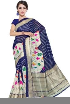 Sudarshan Silks Printed Gadwal Handloom Art Silk Sari