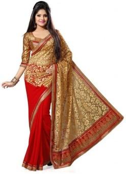 Shree Parmeshwari Self Design Bollywood Brasso, Art Silk Sari