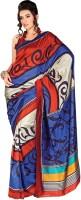 Rangmanch Floral Print Silk Sari