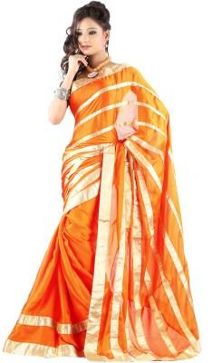 Jacquard Shringhar Self Design Fashion Jacquard Sari (Orange)