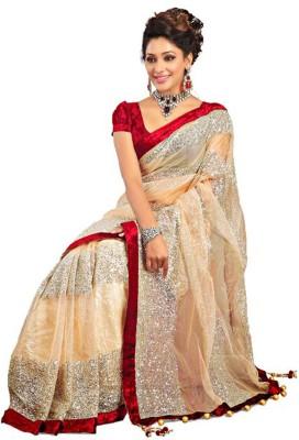 Compare ETHNICPARK Self Design Bollywood Net Sari at Compare Hatke