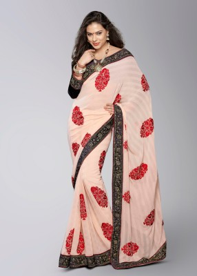 Soch Printed Embroidered Georgette Sari