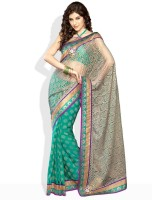 Soch Printed, Floral Print Synthetic Sari