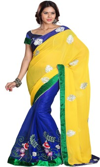 Sourbh Sarees Self Design Fashion Georgette, Net Sari