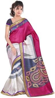 Sarovar Sarees Printed Mysore Art Silk Sari