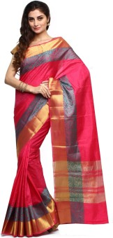 Sudarshan Silks Self Design Dharmavaram Handloom Raw Silk Sari