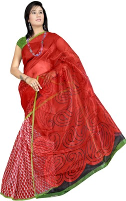Offer Point Printed Fashion Net Sari