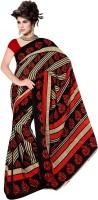 Janasya Printed Embellished Polyester Sari