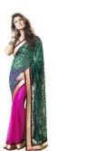 Saree Hub Embellished, Embriodered Fashion Net, Brasso, Georgette Sari