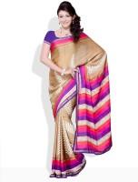 Satrang Printed, Floral Print Synthetic Sari