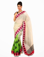 Samyakk Solid Net Sari