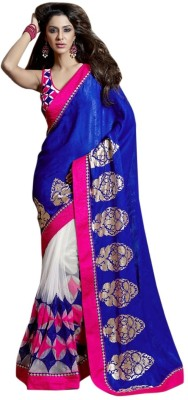 Triveni Self Design Fashion Net Sari