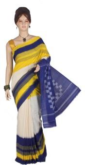 Maanini Striped Pochampally Cotton Sari