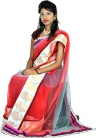 Hawai Printed Embellished Net Sari
