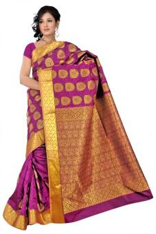 Varkala Silk Sarees Woven Kanjivaram Art Silk, Jacquard, Brocade Sari