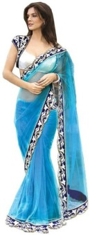 Om Shantam Saree's Embriodered Bollywood Net Sari