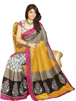 Click Sarees Printed Embellished Art Silk Sari