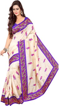 Shree Fashion Hub Saree Embriodered Assam Silk Handloom Silk Sari Blue