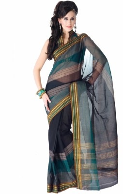 Ishin Solid Cotton Sari available at Flipkart for Rs.799