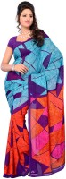 Petrafab Checkered Georgette Sari