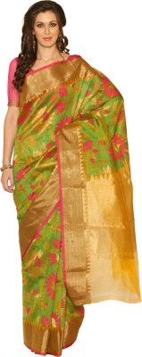 Rangoli Rangoli Self Design Fashion Silk Sari (Multicolor)