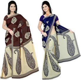 Anand Sarees Self Design Daily Wear Synthetic Sari Pack Of 2
