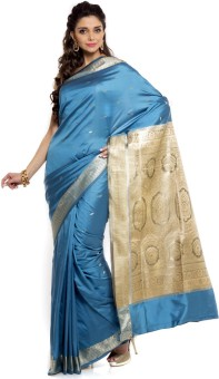 Sudarshan Silks Self Design Daily Wear Handloom Silk Sari