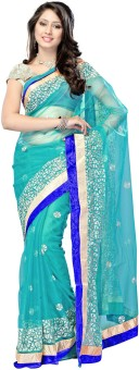Ragini Sarees Self Design Bollywood Net Sari