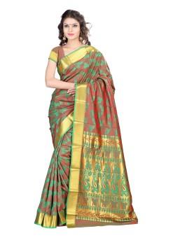 Varkala Silk Sarees Woven Kanjivaram Jacquard Sari