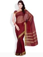 Urban Vastra Geometric Print, Striped Cotton Sari