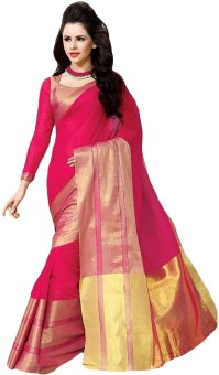 Shree Vaishnavi Self Design Bollywood Handloom Cotton Sari