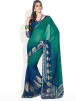 Vishal Floral Print, Geometric Print Synthetic Sari