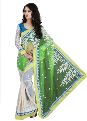 Saree Sansar Embriodered Bollywood Net Sari