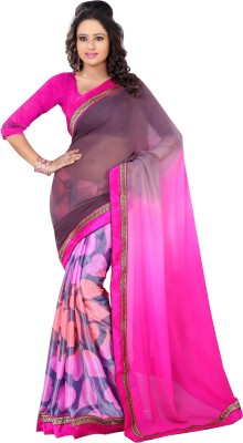 Dream Saree Printed, Self Design Fashion Brasso Sari available at Flipkart for Rs.2800