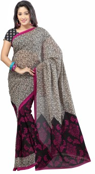 Kia Fashions Sarees Printed Daily Wear Georgette Sari
