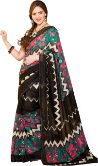Click Sarees Self Design Bhagalpuri Art Silk Sari