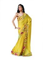 Taanshi Printed Satin Sari