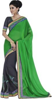 Indian Women By Bahubali Self Design Fashion Georgette Sari