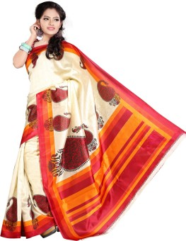 Vastrakala Printed Fashion Cotton, Silk Sari