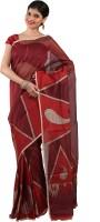 Sareez Floral Print Cotton, Net Sari