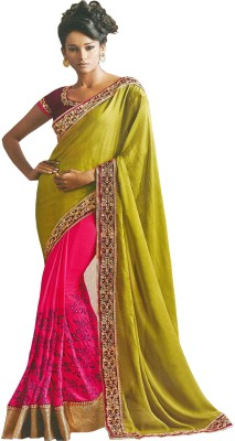 Fabulous Self Design Fashion Georgette Sari (Multicolor)