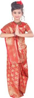 Sareez Floral Print Bollywood Handloom Satin Sari