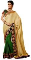 Bhavi Printed Embroidered Embellished Silk Sari