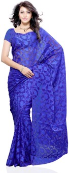 Compare Diva Fashion Floral Print Brasso, Net Sari Sari at Compare Hatke