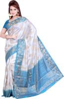 Ishin Designer Studio Printed Art Silk Sari