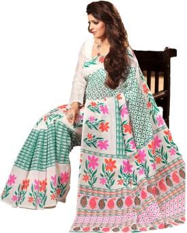 Taanshi Floral Print Cotton Sari
