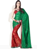Vishal Striped Synthetic Sari